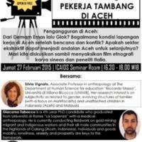 """Diskusi Film Etnografi tentang """"Pekerja Tambang di Aceh"""""""