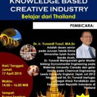 Knowledge Based Creative Industry (Belajar dari Thailand)