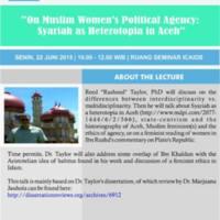 On Muslim Women's Political Agency: Syariah as Heterotopia in Aceh